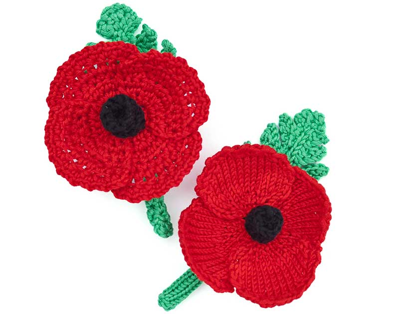 Crochet-and-knitted-poppy