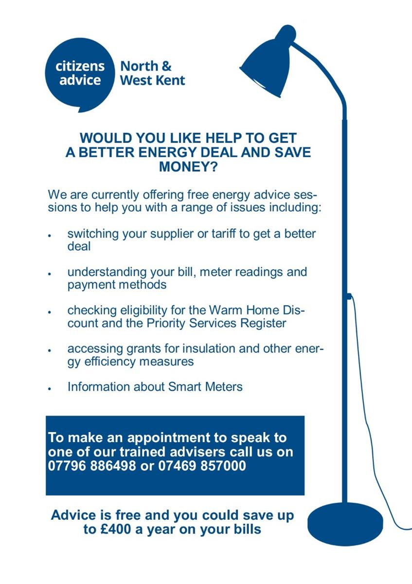 Energy Advice Sessions Poster